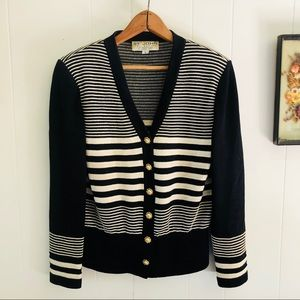 St. John Collection • Striped Knit Cardigan